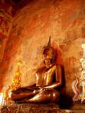 buddhist art style poster