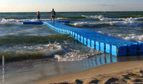 canvas print picture plastic pier