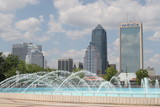 jacksonville,florida,fountain,river,bridge,citysca