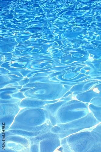 Leinwanddruck Bild blue pool water background