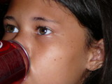 child drinking soda poster