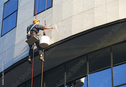 poster of window washer