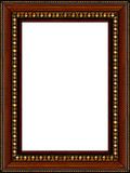 antique rustic wooden picture frame isolated poster