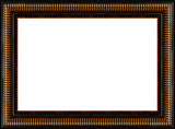 antique rustic black wooden picture frame isolated poster