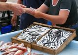 commerce de poissons poster