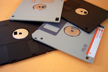 various diskettes