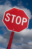 stop sign against the sky poster