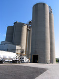 cement plant and truck loading poster