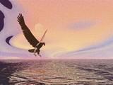surreal eagle poster
