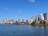 toronto skyline from eastern harbour poster