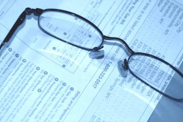 eyeglasses on bill
