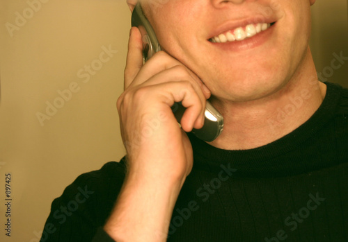 man talking on cell