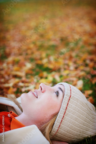 woman during fall