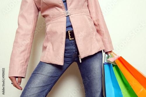 Фото со стока - Молодые женщины, торговые сумки.