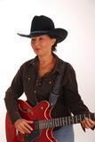 guitar woman ten poster