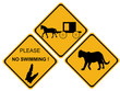 alligator hazard sign
