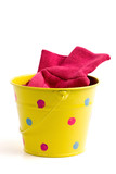 yellow bucket & gloves poster
