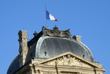 french building roof poster