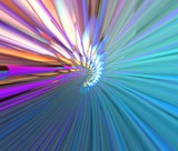 multicolor abstraction rays poster