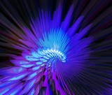 blue luminous bird poster