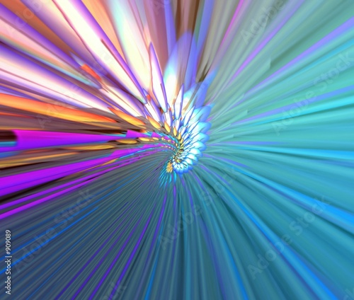 poster of multicolor abstraction rays