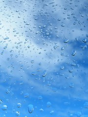 drop of rain on window glass