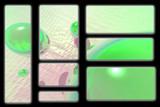 green orb logo set poster