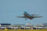 plane on takeoff poster