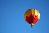 hot air balloon ride closeup poster