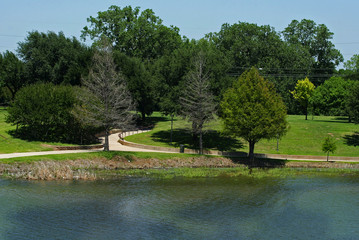 brazos river with park