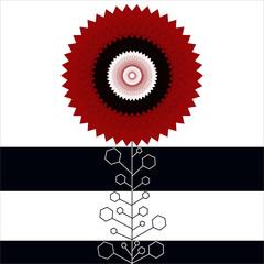 geometrical floral plant