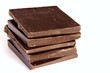 vertically stacked squares of chocolate