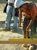 construction worker, grade poster