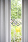 stock photo of a leaded glass window poster