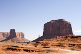 stock photograph of monument valley in arizona poster