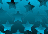 gradient stars background red poster