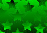 gradient stars background green poster