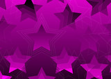 gradient stars background pink poster