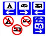 Fototapety camping and caravan signs