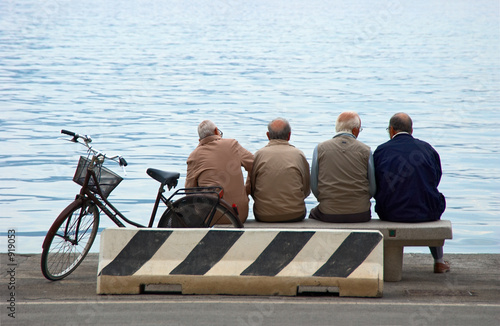 senior man citizens at the pier