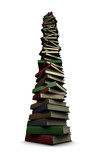huge stack of books poster