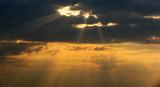 dramatic sunset poster