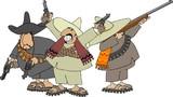 three mexican banditos poster