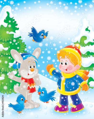 剪贴画友谊图圣诞节娱乐孩子对象微笑性质庆祝活动户外插图新年明亮的
