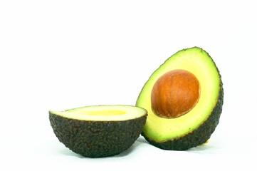 cut ripe avocado