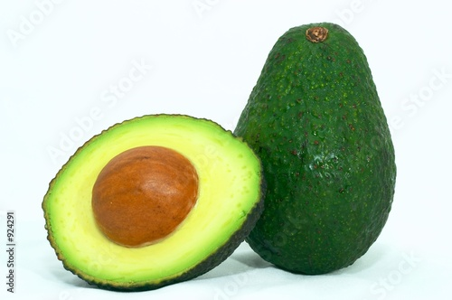 green avocado cut