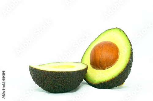 cut ripe avocado