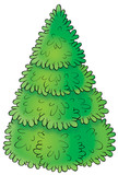 green fur-tree poster