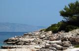 rocky coastline poster
