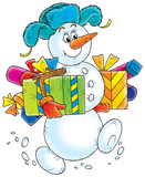 snowball with gifts poster